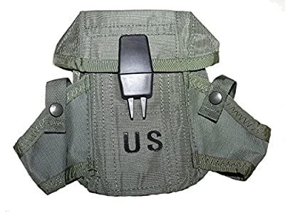 Unicor New US Army Military Ammunition Ammo OD Olive Drab Green 300 Round Magazine M16 Rifle Hand Grenade LC-1 Small ARMS CASE Pouch with Alice Clips by US Goverment GI USGI