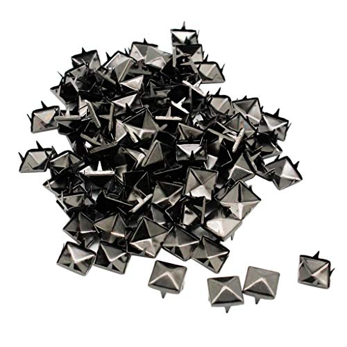 perfk 100x Metall Square Pyramidennieten Nieten Ziernieten Basteln DIY - Schwarz