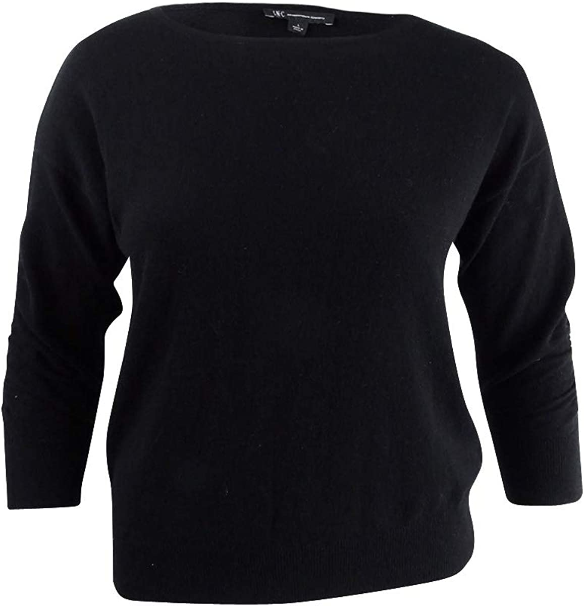 INC Womens Ruched 3/4 Sleeves Pullover Sweater