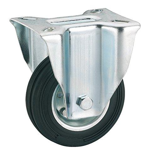Dörner + helmer 713222 massief rubber bokwiel met rollager 200 x 50 mm/plaat 140 x 110 mm