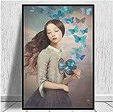 NC87 Set Your Heart Free Canvas Painting Sala de Estar Oficina en casa Hotel Apartamento Decoración Impresión en lienzo-60X90Cm Sin Marco