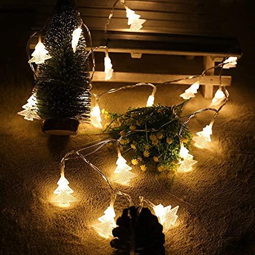 czhvip 10m80 Luces Luces De Decoración De Otoño, Luces De Hadas Led, Decoración Navideña con Pilas, Guirnalda De Luces Navideñas para Exteriores