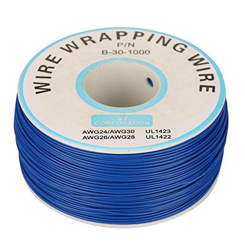 Kupferdraht, 1 Rolle Kupferdraht Litze 30AWG Kabel Kupferkabel Drahtwicklung Kupferlitze 0,25 mm Kerndurchmesser(Blau)