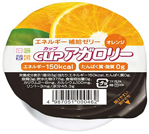 カップアガロリー オレンジ 83g×24個 【医療食】