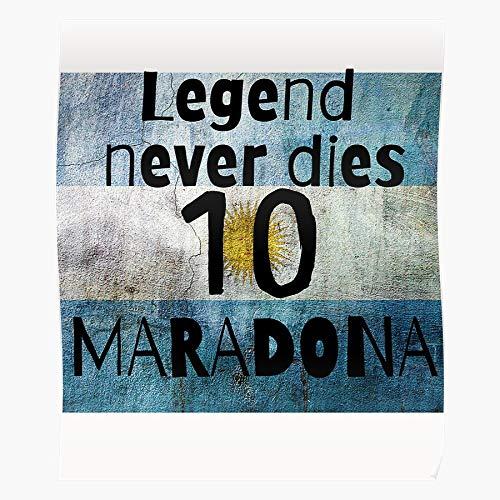 Die Maradona Football Legends Dies Never Napoli Legend Boca Diego Juniors Maestro Home Decor Wandkunst drucken Poster !