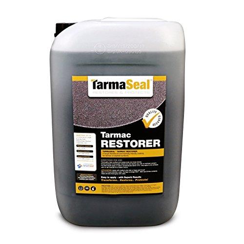 Tarmaseal Tarmac Restorer - Black - Superior in Performance to Tarmac Paint for Repairs and Restoration of Tarmac driveways and Other Surfaces. Makes Old Tarmac Surfaces Look Like New. (20 Litre)