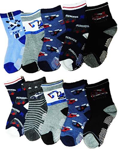 Unbekannt 10 Paar Jungen ABS Socken Größe 19-39 Anti rutsch Noppen (24-27)
