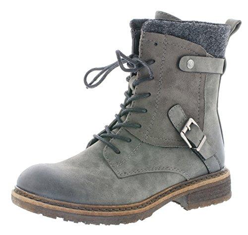 Rieker Damen Klassische Stiefel 94742,Frauen Boots,Schnürstiefel,Blockabsatz 3.8cm,Smoke/Smoke/anthrazit, EU 41