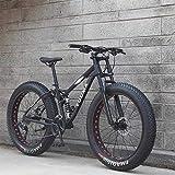 MJY Bicicleta Hombres 'S Mountain Bikes, 26 pulgadas Fat Tire Hardtail Snowmobile, cuadro de doble suspensión y horquilla de suspensión All Terrain Mountain Bicycle Adult 6-24,27velocidad