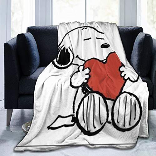 FashionDIY Snoopy-Decke, übergroß, warm, für Erwachsene, superweiche Decke mit weichem Flanell, für Erwachsene und Kinder, 3D-Druck, 152,4 x 127 cm