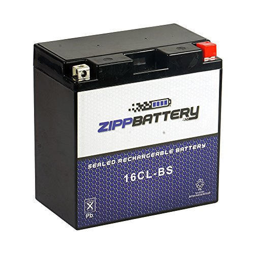 Chrome Battery 16CL-BS Jet Ski Battery - Rechargeable, Absorbent Glass Mat, Factory Sealed and Acitvated