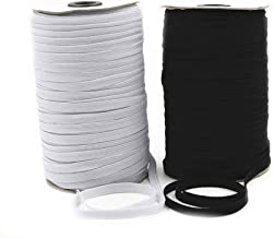 HMYDZ Elastische band for maskers 3mm High Elastic Flat Rubber Band Waistband Naaien Cord Rope DIY (Color : White, Size : ...