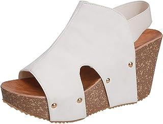 Sandales Femmes Summer Ankle Strap Platform Wedge Sandals Thick Gladiator Shoes