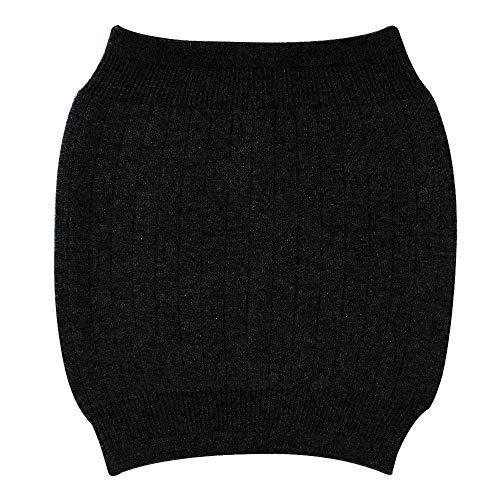 Milya  Winter Kaschmir Nierenwärmer Rückenwärmer Elastisch Taille Unterstützung, Einheitsgröße, Schwarz Plüschfutter