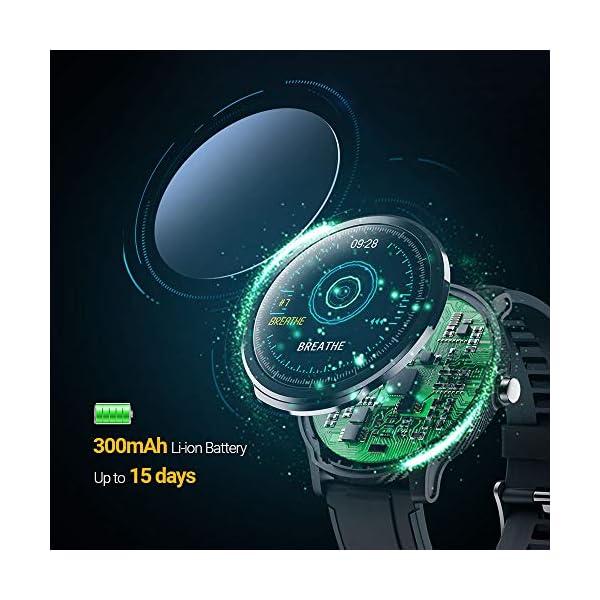 NACATIN SmartWatch, Reloj Inteligente Impermeable IP68, Bluetooth Relojes Deportivos Pantalla t¨¢ctil Completa, Pulsera… 2