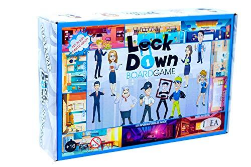IDEA Games - Lockdown Boardgame - Gioco da Tavolo, Gioco Fatto a Mano, Edizione in Italiano - da 2 a 11 Giocatori, Originale Gioco in Scatola, novità Assoluta con utilizzo Smartphone