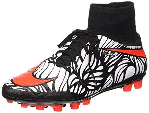 Nike Hypervenom Phatal 2 DF NJR AGR, Botas de fútbol para Hombre, Negro/Blanco (Black/Bright Crimson-White), 47 EU
