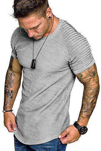 Coshow Funktionsshirt Herren, Kompressionsshirt Fitness, Laufshirt Männer, Sportshirts Atmungsaktiv Kurzarm
