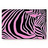 N/A Felpudo Zebra Stripe Felpudo de Bienvenida Alfombrilla...