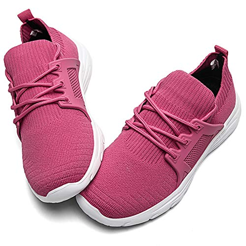 Toddler Shoes Girls Lightweight Breathable Sneakers Washable Strap Athletic Tennis Shoes for Running Walking Hot Pink