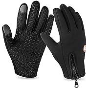 AOFU Touch Screen Gloves, Winter Warm Thermal Gloves, Gel Men & Women Gloves