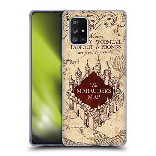 Head Case Designs Officially Licensed Harry Potter The Marauder's Map Prisoner of Azkaban II Soft Gel Case Compatible with Samsung Galaxy A71 5G (2020)