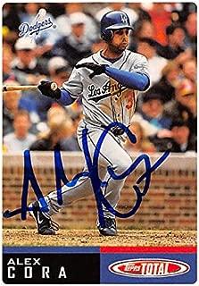 Autograph 126141 Los Angeles Dodgers 2002 Topps Total No. 652 Alex Cora Autographed Baseball Card