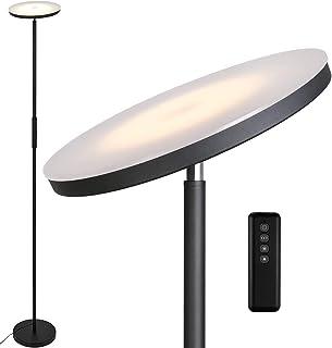 Anten Lampadaire sur pied salon Stjarna | noir | 30W Lampe sur pied dimmable avec télécommande | 3 couleur de lumière + Lu...