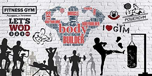 LUOJIE Hanteln für Fitnessübungen 3D DIY Premium Print Wandbilder Artwork Wanddekorationen Foto Wallpaper Vlies Poster Bild Design Modern High Resolution 450cmx300cm