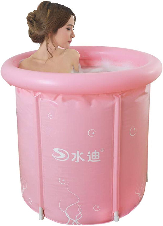 CQYGZHL Oversized Thicker Adult Tub Fold Plastic Bath Barrels Pink bluee 2.2 Kg 60  70cm Small Bathing Tub (color    1, Size   60  70CM)