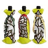 3 pièces sacs de couverture de bouteille de vin géométrie bière houblon bouteille de vin sacs-cadeaux pour dîner Table Champagne