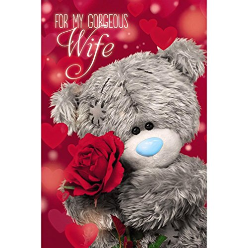 Me To You Tatty Teddy 3D Holographic Card - Wife Birthday