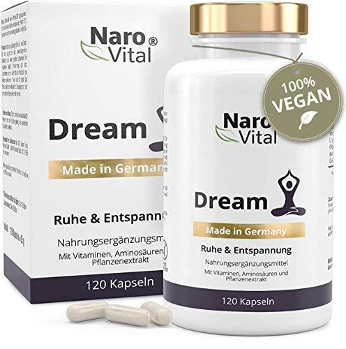Entspannt durch die Nacht - Natürliche Melatonin und Serotonin-Quellen L-Tryptophan & 5-HTP - Angereichert mit GABA - 120 Kapseln (2 Monate)
