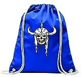 'Turn Bolsa 'Vikingo Calavera con cuerno Casco Esqueleto Roc