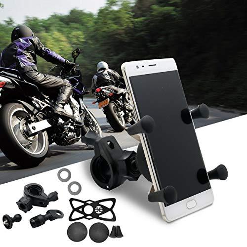 TOTMOX Motocicleta Motor Bike GPS Teléfono titular USB cargador de teléfono de la motocicleta USB titular del espejo de carga titular del teléfono