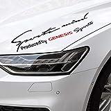 Etiquetas Engomadas De Las Cejas De La Luz Del Coche 1pcs, Etiqueta Engomada Decorativa Del Modelado, Piezas De AutomóVil, Para Hyundai Genesis