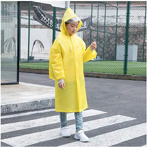 MULMF Waterdichte Outdoor Reizen Kids Regenjas Voor Rugzak Meisje Jongen Student Regenkleding Poncho Kids Regenjas - Maat: M (95-110) Hoogte-Geel
