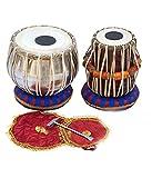 Juego de tambores de mesa de estudiante indio MAHARAJA, Bayan de acero, mejor Dayan con libro,...