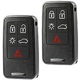 Car Key Fob Keyless Entry Smart Remote fits Volvo S60 S80 V60 V70 XC60 XC70 (KR55WK49264), Set of 2