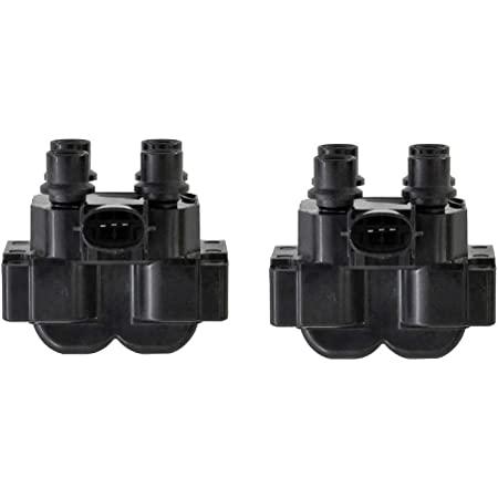 ENA High Performance Ignition Coil Pack of 2 compatible with 1988-2003 Ford Lincoln Mercury Mazda V8 4.6L 5.0L I4 1.9L 2.0L 2.3L 2.5L