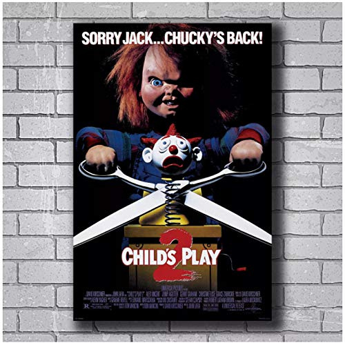 ZQXXX New CHILDS PLAY 2 Movie Horror Art Poster lienzo pintura decoración del hogar carteles e impresiones impresas en lienzo-50x70cm sin marco