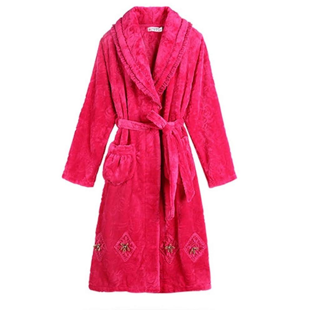 しっとり感じ知人NAN liang ナイトウィング女性の冬の肥厚と長い暖かい綿パジャマ女性のバスローブバスローブ 快適な (サイズ さいず : XXXL)
