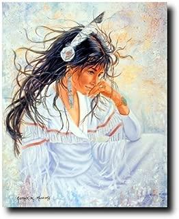 Native American Indian Maiden Woman Wall Decor Art Print Poster (16x20)