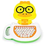 Bambiya English-Spanish Toddler Learning Tablet - Musical Educational Toy for Kids to Learn Spanish and English Numbers, Letters and Words - Duck Laptop Toy for Children Preschool Age 3+