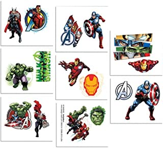 amscan 16-Piece Avengers Tattoos, Multicolored