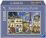 Ravensburger- Passeggiata Notturna a Parigi Puzzle da Adulti, Multicolore, 18000 Pezzi, 17829