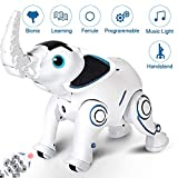 WomToy Remote Control Robot Elephant Toy, RC Robotic Elephant Toys Singing Dancing Interactive Children Toy Early Educational Imitates Animals for Boys and Girls, Ages 3 and Up
