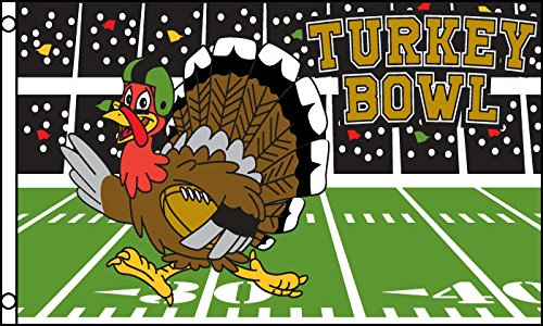 AZ FLAG Drapeau Football américain Turkey Bowl 150x90cm - Drapeau du Superbowl 90 x 150 cm - Drapeaux
