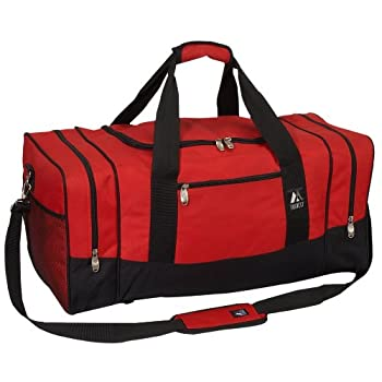 Everest Luggage Sporty Gear Bag - Large Red/Black Red/Black One Size