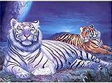 BinTing 4000 Piezas de Rompecabezas de Animales de Madera para Adultos-Tigre-Adultos Rompecabezas de Madera Ocio Juegos creativos de Rompecabezas Juguetes de Arte Rompecabezas
